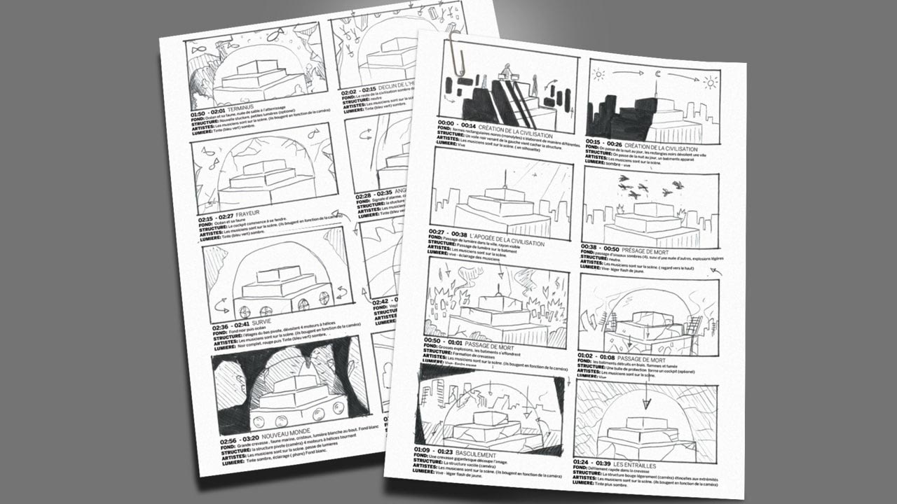 Atlantis chronicles story board Motion Design Glino graphiste freelance à Nantes